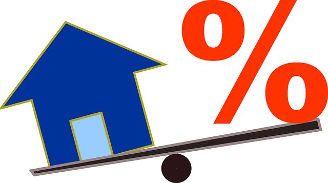 váha, dům, procenta