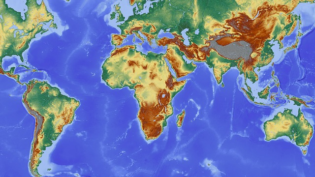 mapa s kontinenty